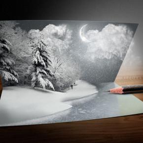 Как сделать открытку из фото