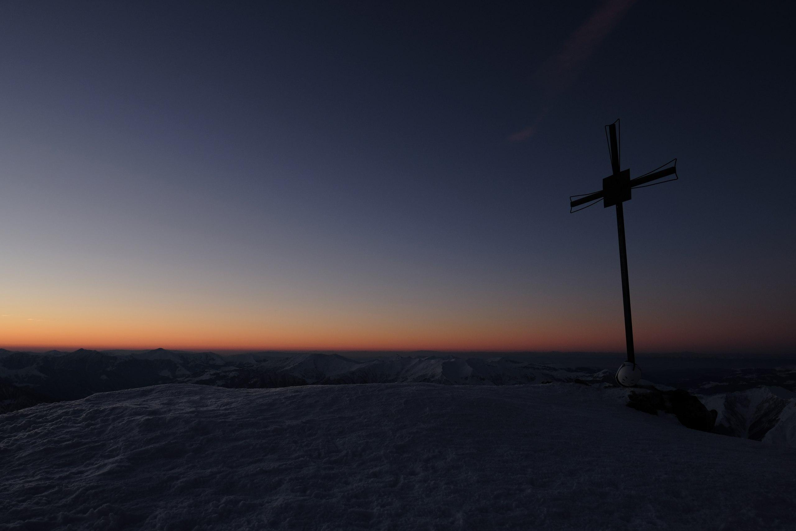красивое утро в горах